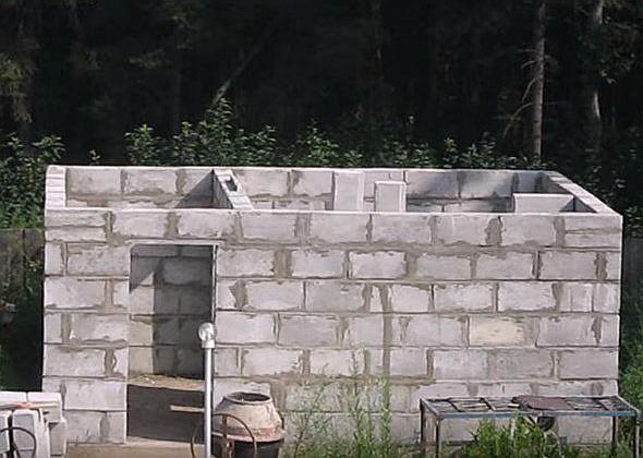 построить баню из пеноблоков своими руками видео