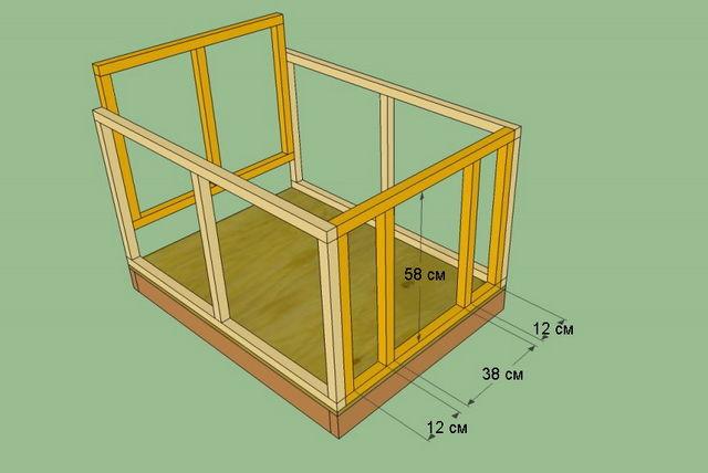 Схема построения будки