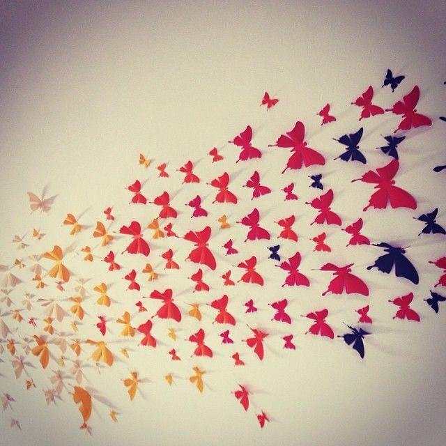 Декор бабочки на стене как сделать своими руками фото 875