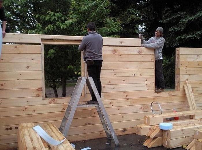 Как построить деревянный дом пошагово