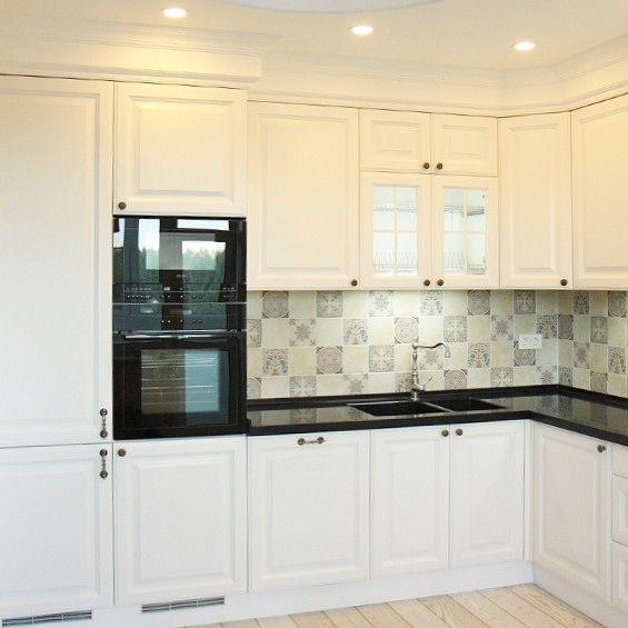 Белая кухня классика дизайн