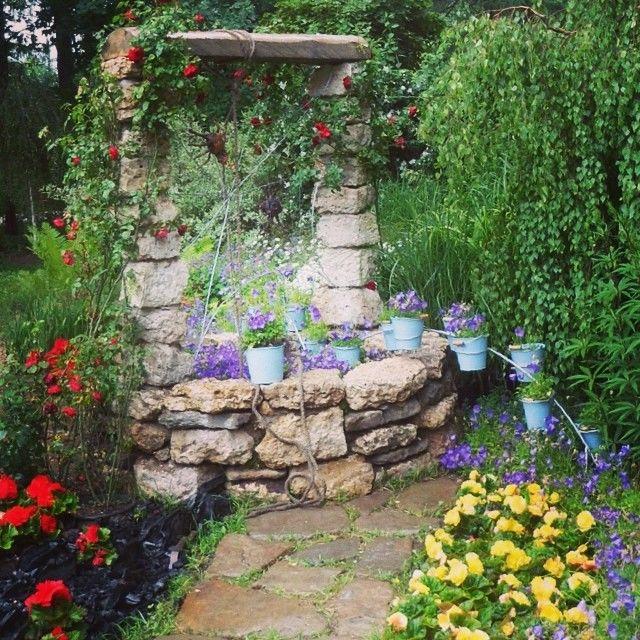 Как красиво оформить сад своими руками фото примеры