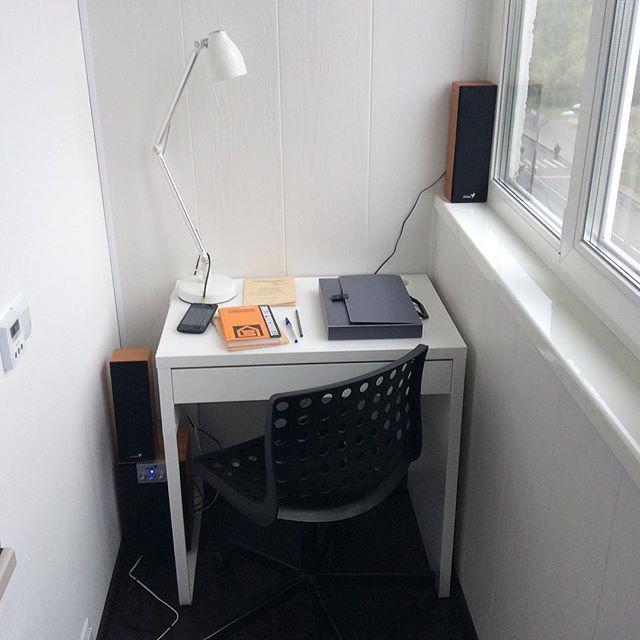 Кабинет на балконе: 15 фото идей.