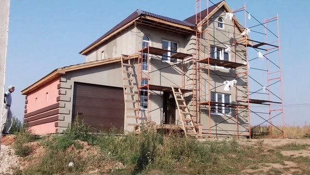 Построить каркас дома своими руками