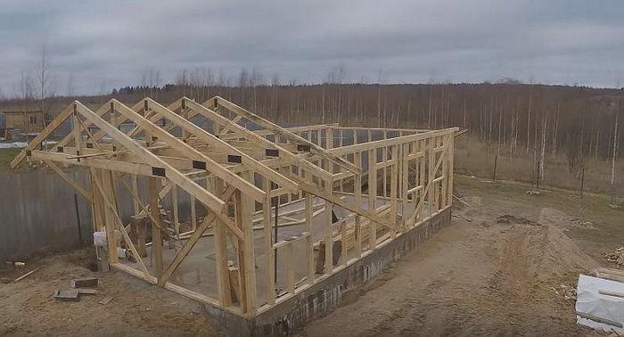 Каркас двухскатной крыши своими руками фото фото 963