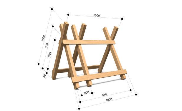 Как сделать козёл для распилки дров своими руками 674