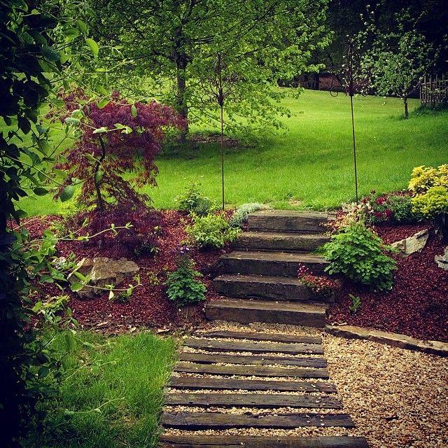 садовые лестницы на дачном участке фото
