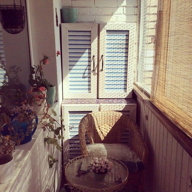 Обустройство балкона: 20 фото.
