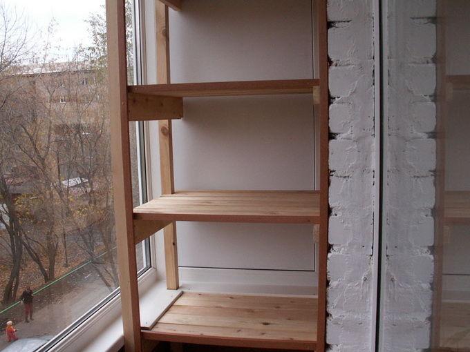 Полки на балконе своими руками: фото, видео инструкция.