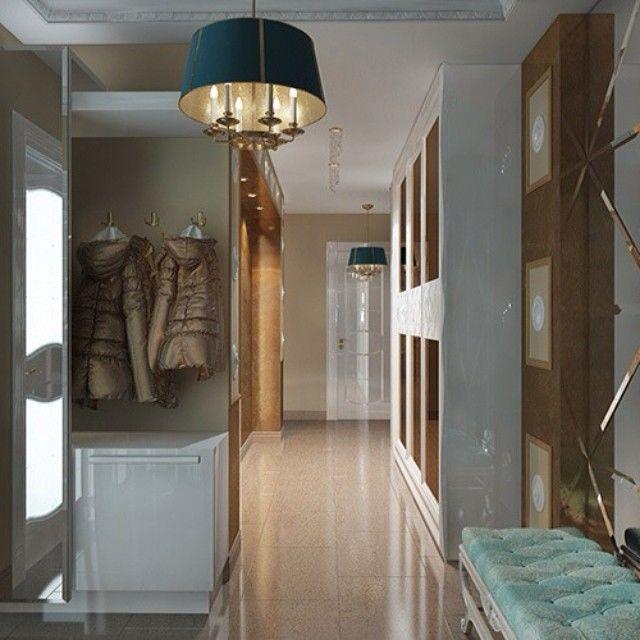 Ремонт в длинном коридоре: 10 фото.