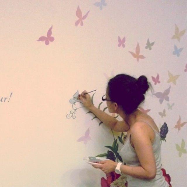 Простой рисунок на стене своими руками фото