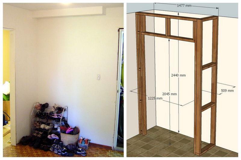 Как сделать угловой шкаф своими руками в домашних условиях фото и