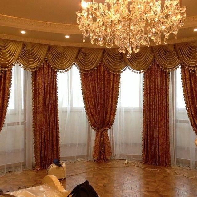 как подобрать красивые шторы в зал фото выбрали длину