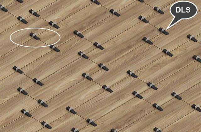 Пример укладки плитки на полу с помощью системы DLS