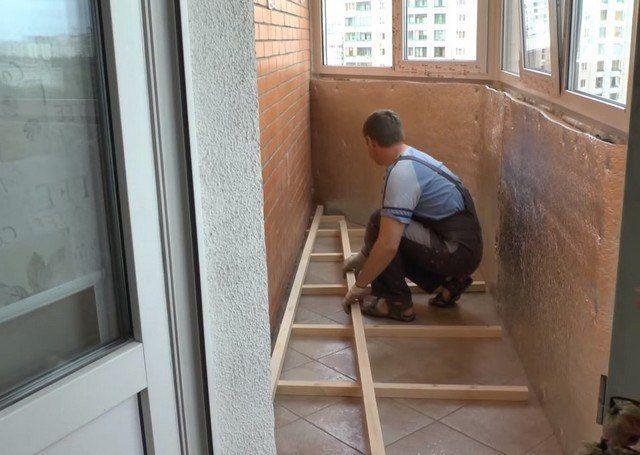 Утепление пола на балконе своими руками: фото, видео инструк.