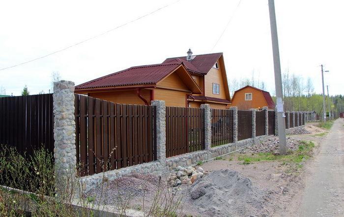 Забор из гиттер своими руками