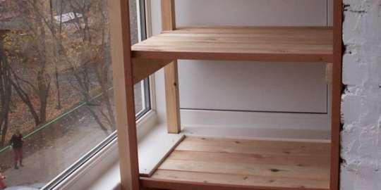 Полки своими руками для балкона