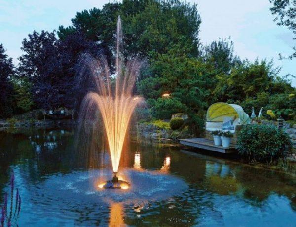 Эффектная подсветка фонтана