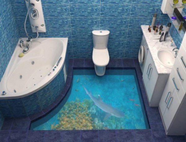 Наливной зд пол в ванной 4 кв. м.