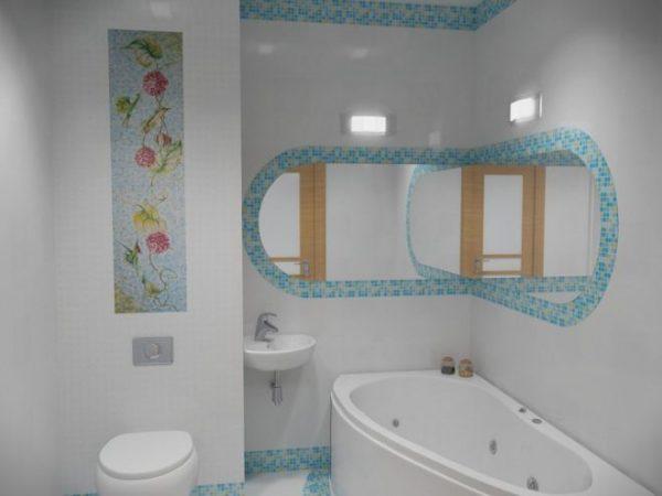 Выкладка мозаики в ванной