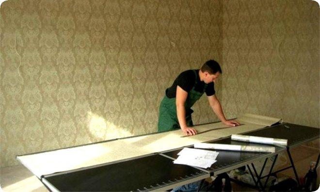 Как клеить виниловые обои на бумажной основе