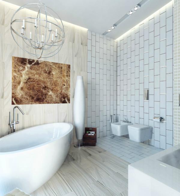 Ультрасовременный интерьер ванной