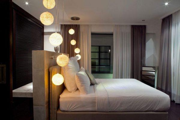 Подвесные люстры для спальни