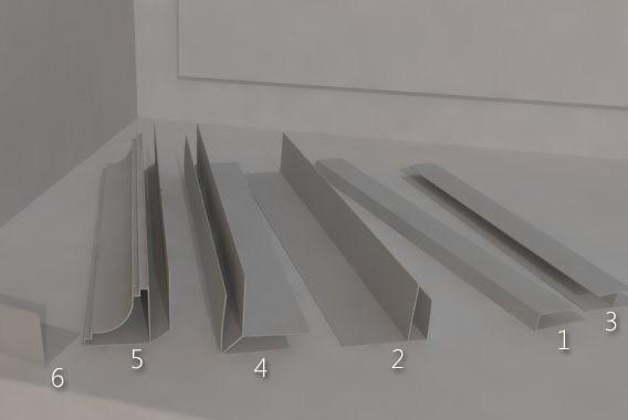 6 видов профилей для потолка