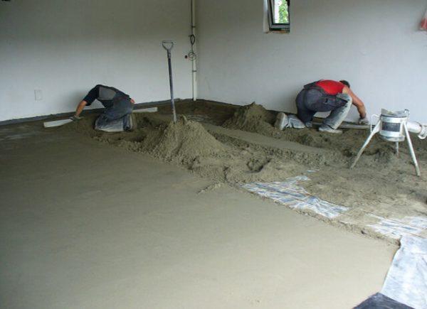 Цементно-песчаный состав