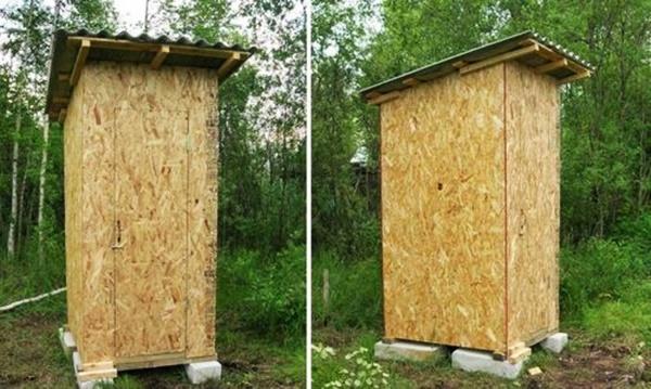 Туалет из осб плиты своими руками 102