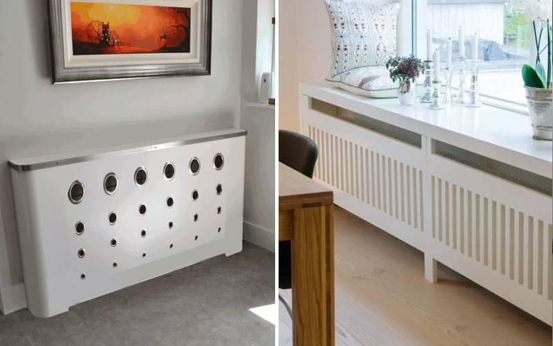 Панели для радиаторов в спальне.