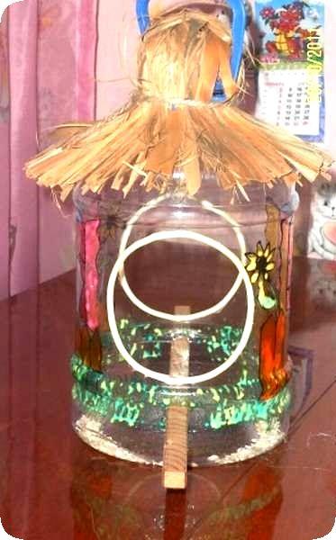 Кормушка для птиц из 5 литровой бутылки