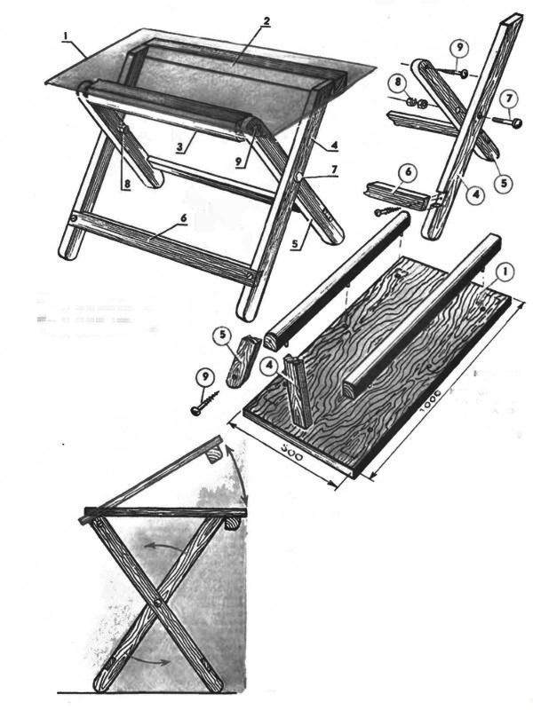 Как сделать раскладной стол самостоятельно