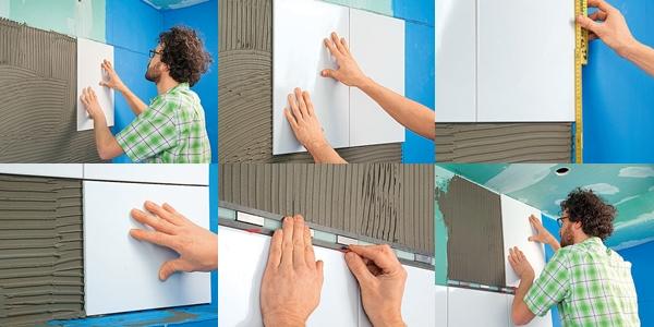 Пошаговая инструкция укладки плитки на стену