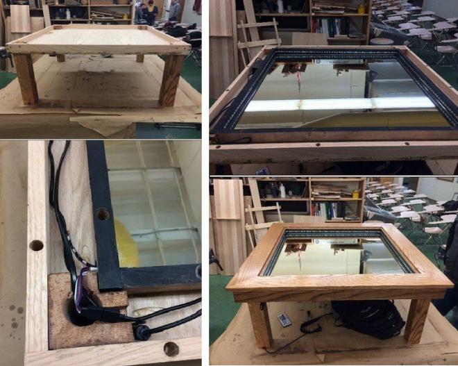 Как сделать стол с эффектом бесконечности