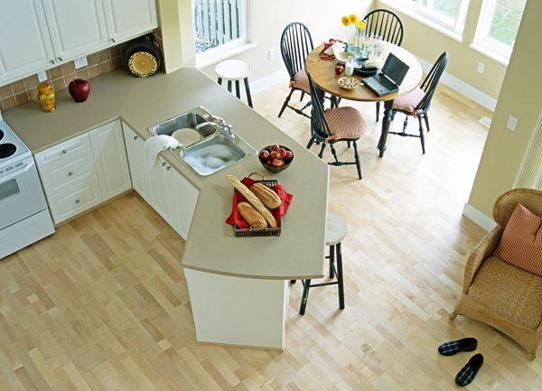 Какой выбрать пол для кухни: полезные советы с фото