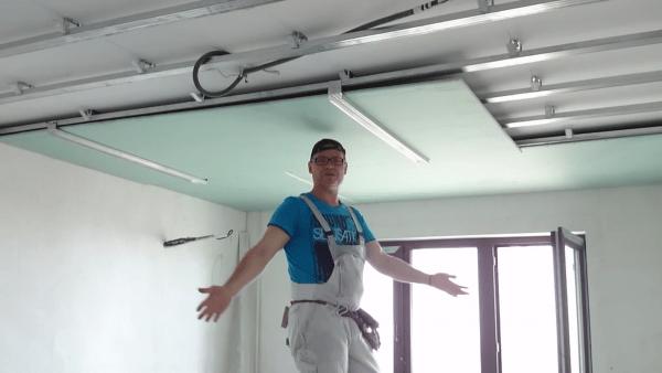 Как сделать подвесной потолок на кухне с подсветкой своими руками
