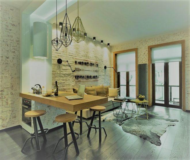 Виды и фото декоративной штукатурки в интерьере кухни