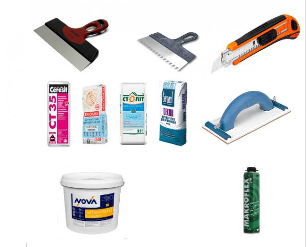 Инструменты для оштукатуривания пеноплекса