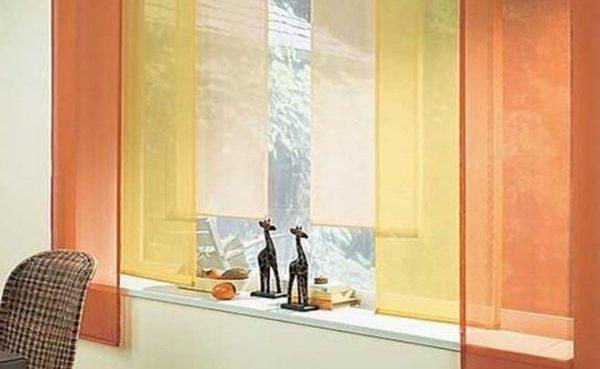 Японская ткань на окнах