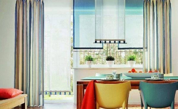 Прямые полотна на кухне
