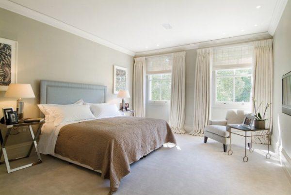 Натуральные ткани в спальне