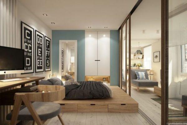 Интересный дизайн-проект маленькой квартиры