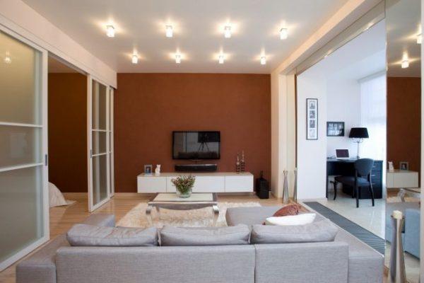 Точечное освещение маленькой квартиры