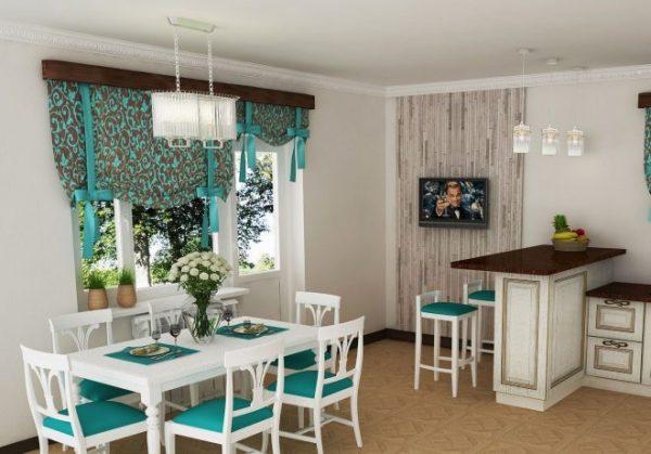 Как оформить окно на кухне в современном стиле