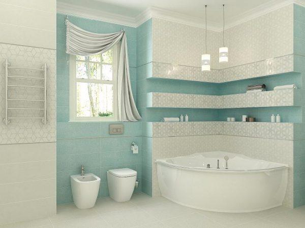 Плитка в ванной небольшого размера
