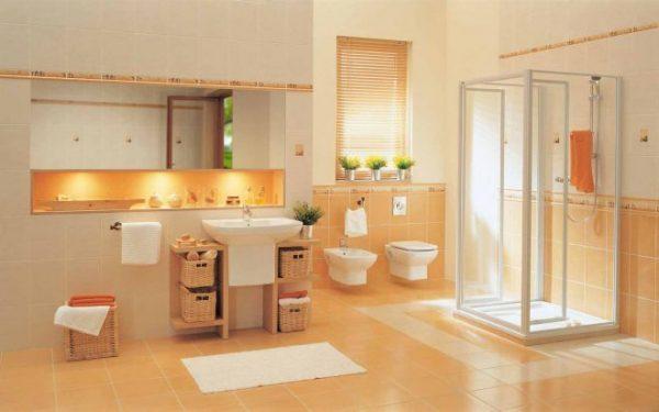Керамическая облицовка в ванной комнате