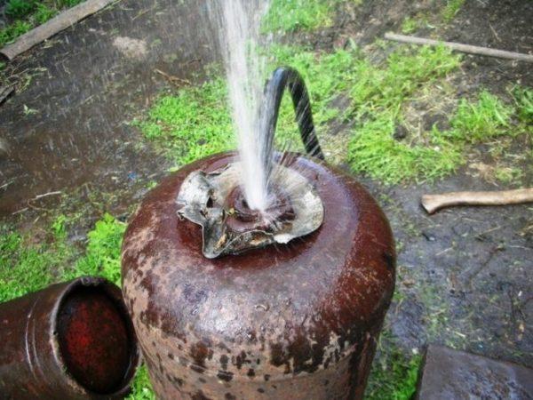 Промывка водой