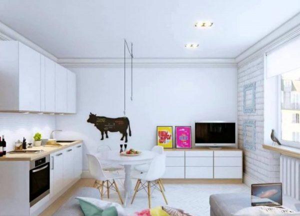 Лаконичный и простой дизайн маленькой квартиры