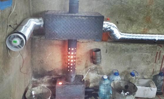Как сделать печь на отработке